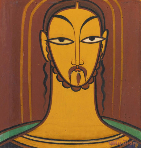 Jesus by Jamini Roy