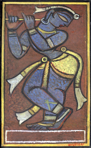 Krishna by Jamini Roy