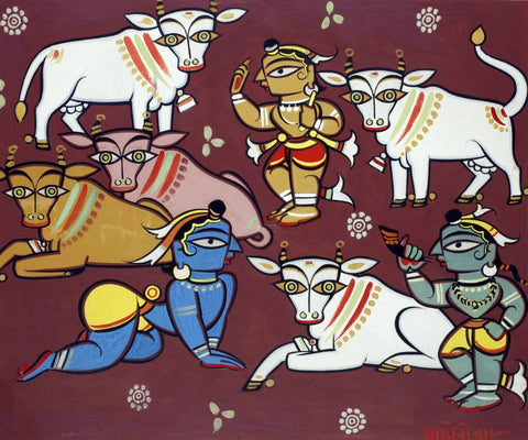 Jamini Roy - Krishna The Cowherd by Jamini Roy