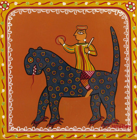 Jamini Roy - Man On A Beast