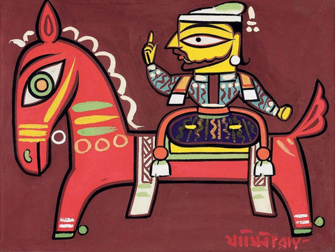 Jamini Roy  - Raja On A Horse