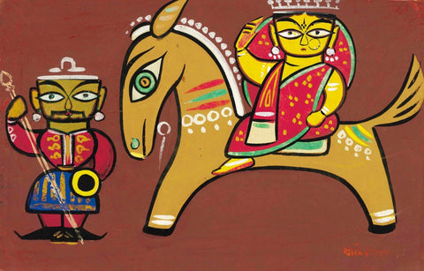 Jamini Roy - Rani On A Bankura Horse by Jamini Roy