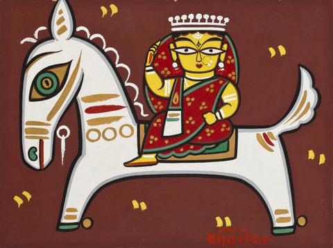Jamini Roy - Rani On A Horse by Jamini Roy