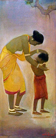 Santhal Mother and Child by Jamini Roy