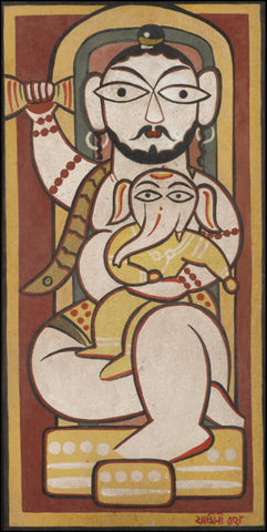 Mahadeva by Jamini Roy