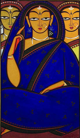 Three Women by Jamini Roy