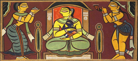 Yashodara and Krishna by Jamini Roy