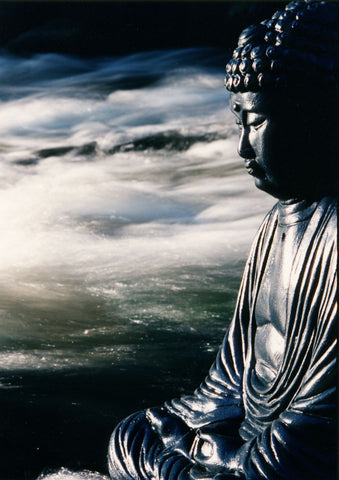 Japanese Art - River Buddha - Framed Prints