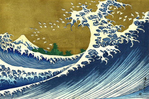 Big Wave From 100 Views Of The Fuji- Katsushika Hokusai - Japanese Masters Painting