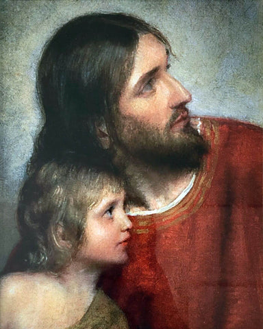 Jesus Christ And The Young Child – Carl Heinrich Bloch - Christian Art Painting