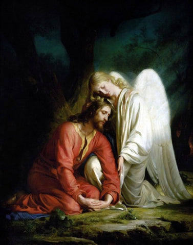 Jesus Christ In The Garden of Gethsemane – Carl Heinrich Bloch 1879 - Christian Art Painting