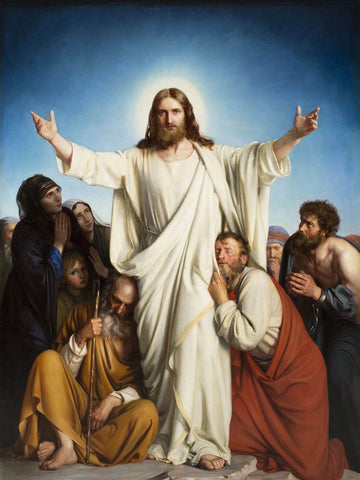 Jesus Christ The Consolator – Carl Heinrich Bloch 1879 - Christian Art Painiting