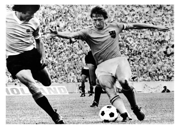 Photograph of Johan Cryuff - Football Legend - World Cup 1974 Sports Poster by Christopher Noel