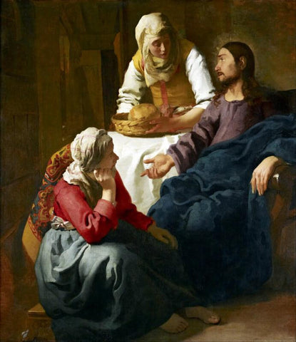 Christ In The House Of Martha And Mary - Art Prints