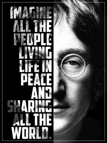John Lennon - Imagine Lyrics  Graphic Poster by Ralph