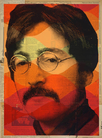 John Lennon Graphic Art Poster