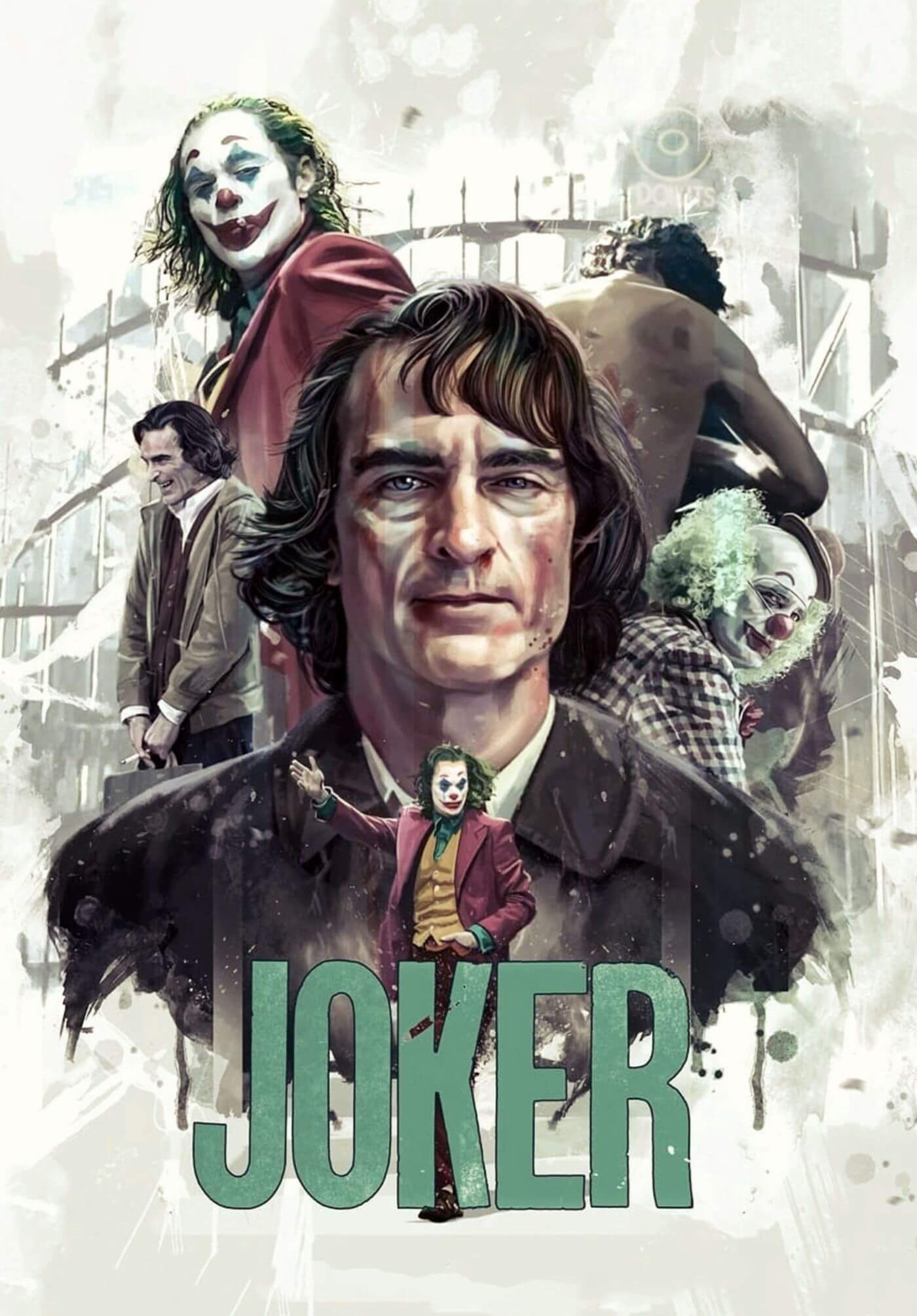 Joker Joaquin Phoenix Fan Art Hollywood English Action Movie Poster Posters By Brad Buy Posters Frames Canvas Digital Art Prints Small Compact Medium And Large Variants
