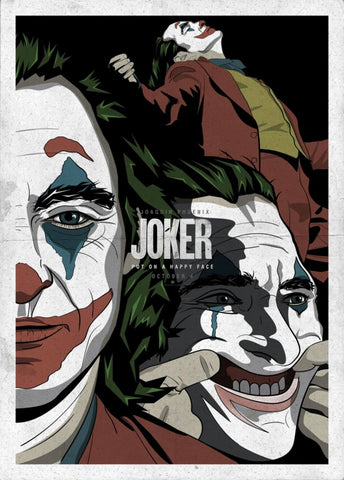 Joker - Joaquin Phoenix - Fan Art - Hollywood Minimalist Movie Poster 3