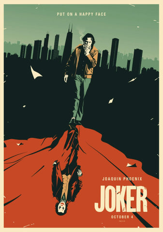 Joker - Joaquin Phoenix - Fan Art - Hollywood Minimalist Movie Poster