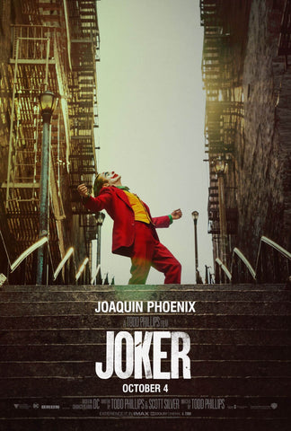Joker - Joaquin Phoenix - Hollywood Action Movie Poster