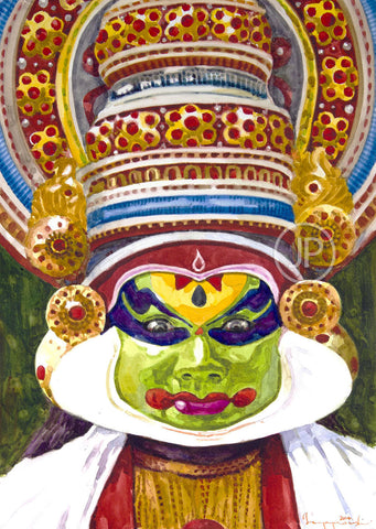 Portrait Of Kathakali Dancer