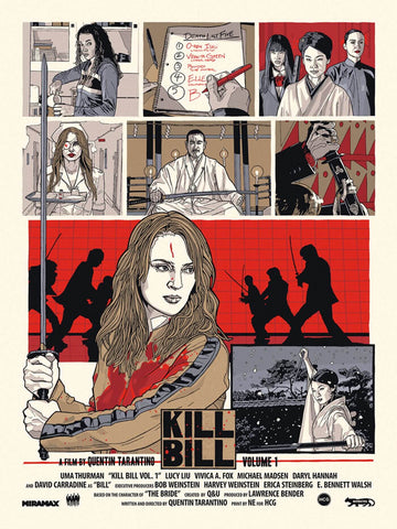 Kill Bill Vol 1 - Tallenge Quentin Tarantino Hollywood Movie Art Poster Collection