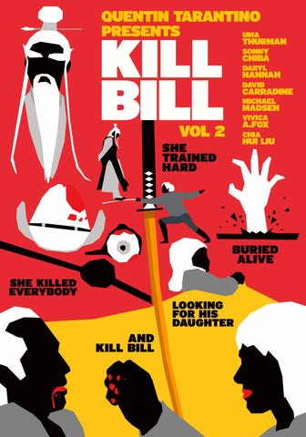 Kill Bill Vol 2 - Quentin Tarantino Hollywood Movie Graphic Art Poster