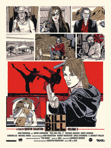 Kill Bill Vol 2 - Tallenge Quentin Tarantino Hollywood Movie Art Poster Collection