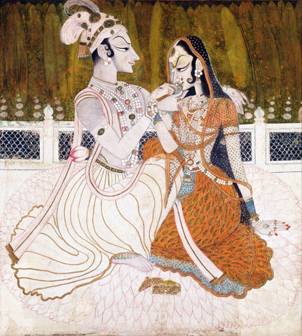 Krishna and Radha by Anonymous Artist