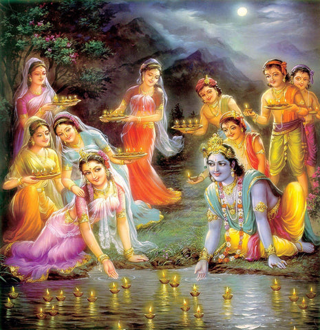 Krishna Collections - Indian Art - Krishna And Radha With Gopis