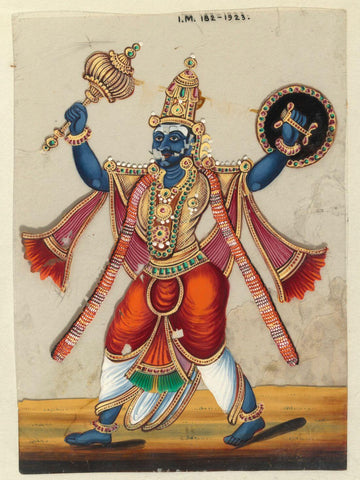 Kumbhakarna - The Brother Of Ravana - Indian Miniature Painting From Ramayana - Vintage Indian Art