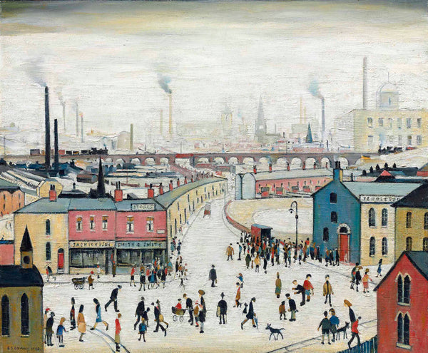 Industrial Landscape Stockport Viaduct - L S Lowry