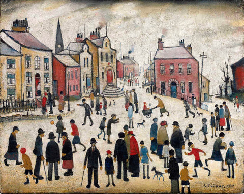 People Standing About - L S Lowry