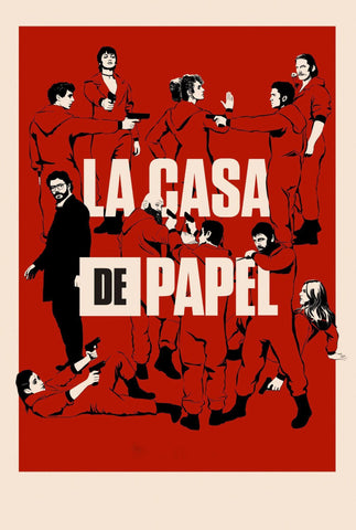 La Casa De Papel - Money Heist - Netflix TV Show Poster Fan Art by Tallenge Store