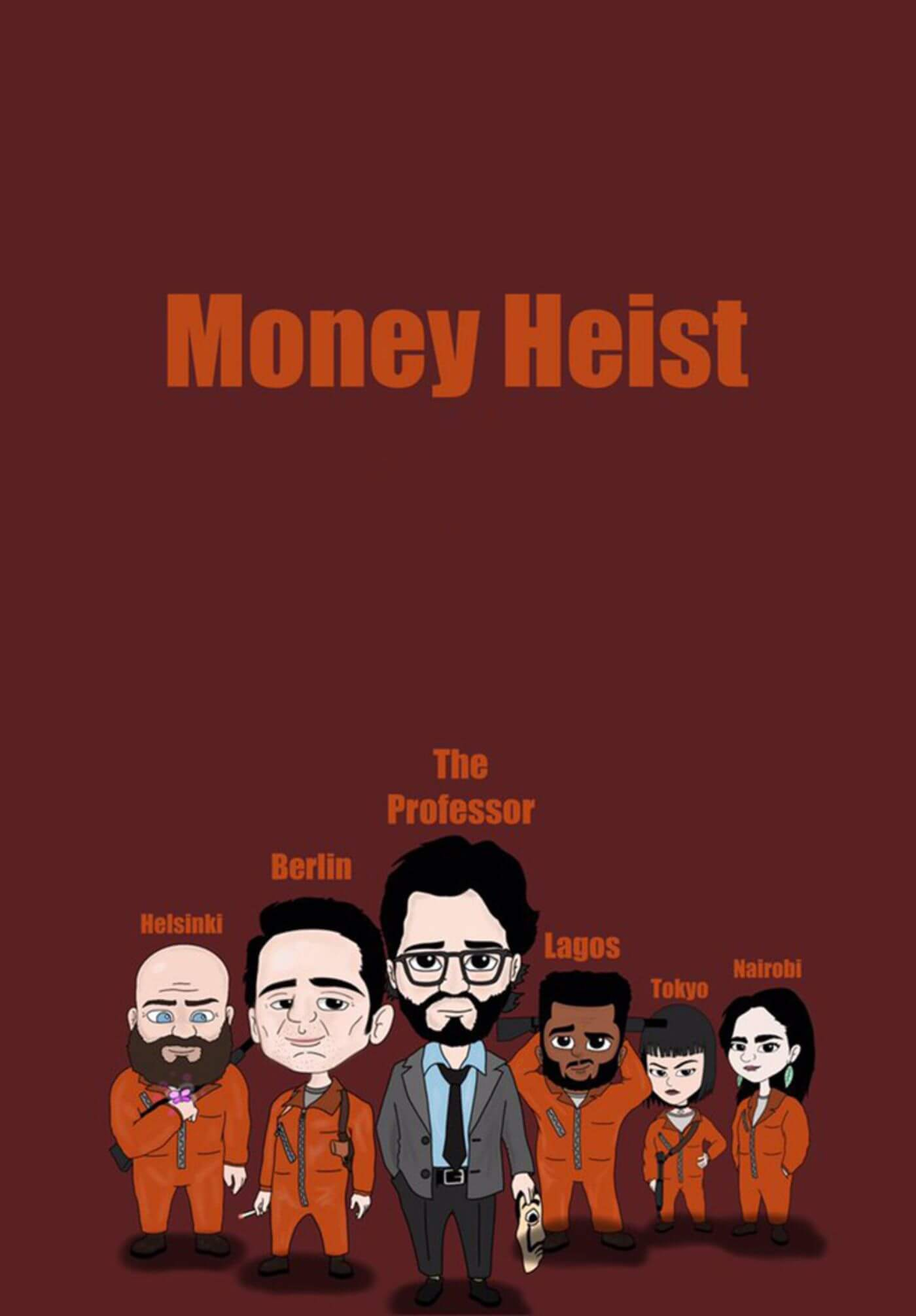 La Casa De Papel - Money Heist - Netflix TV Show Poster Grahic Art