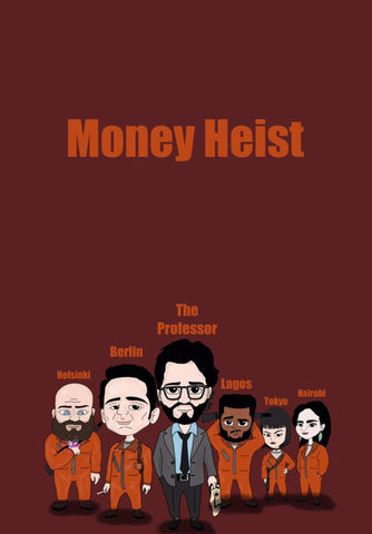 La Casa De Papel - Money Heist - Netflix TV Show Poster Grahic Art by Tallenge Store