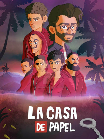 La Casa De Papel - Money Heist 3 - Netflix TV Show Poster Fan Art by Tallenge Store