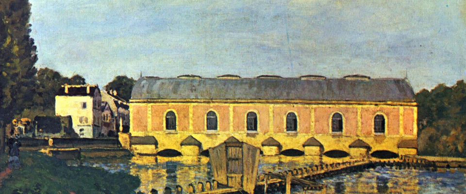 La Machine de Marly by Alfred Sisley | Buy Posters, Frames, Canvas  & Digital Art Prints