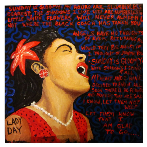Billie Holiday Artwork by Deepak Tomar
