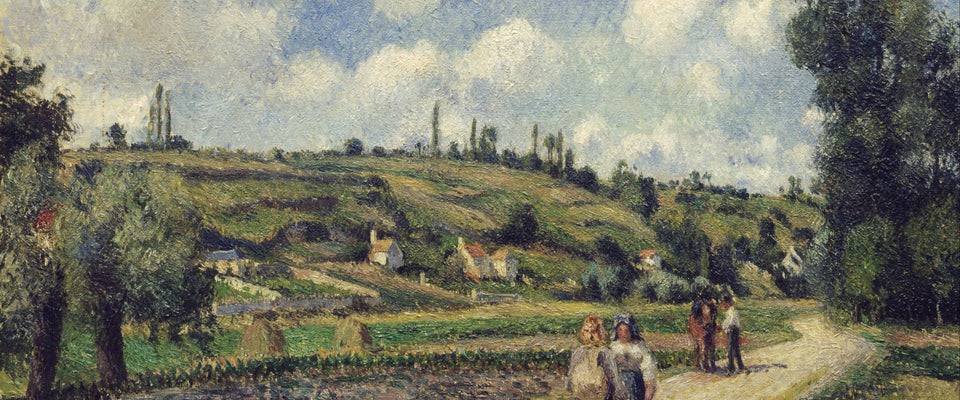 Landscape near Pontoise, the Auvers Road by Camille Pissarro | Buy Posters, Frames, Canvas  & Digital Art Prints