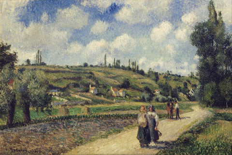 Landscape near Pontoise, the Auvers Road - Canvas Prints