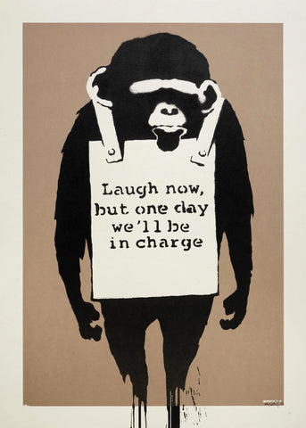 Laugh Now - Banksy