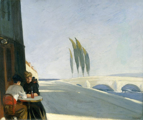 The Wine Shop (Le Bistro) - Edward Hopper by Edward Hopper