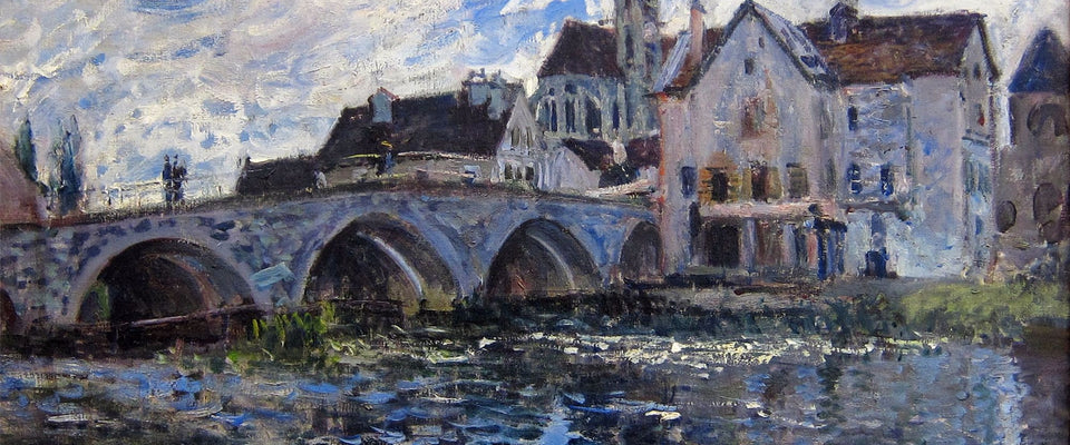 Le Pont de Moret, effet d'orage by Alfred Sisley | Buy Posters, Frames, Canvas  & Digital Art Prints