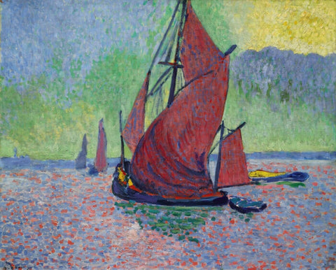 Les Voiles rouges - The Red Sails by Andre Derain