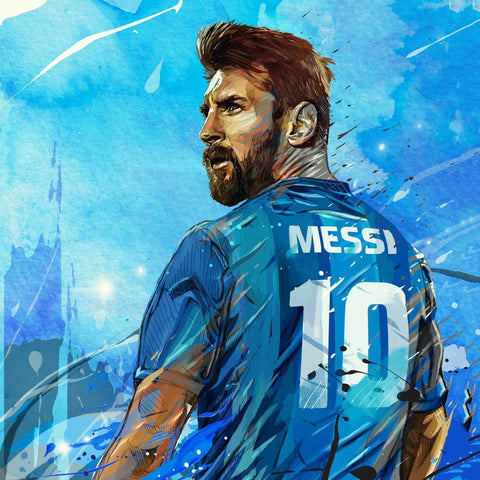 Lionel Messi - Barcelona FC Argentine - Greatest Football Player Poster by Kimberli Verdun