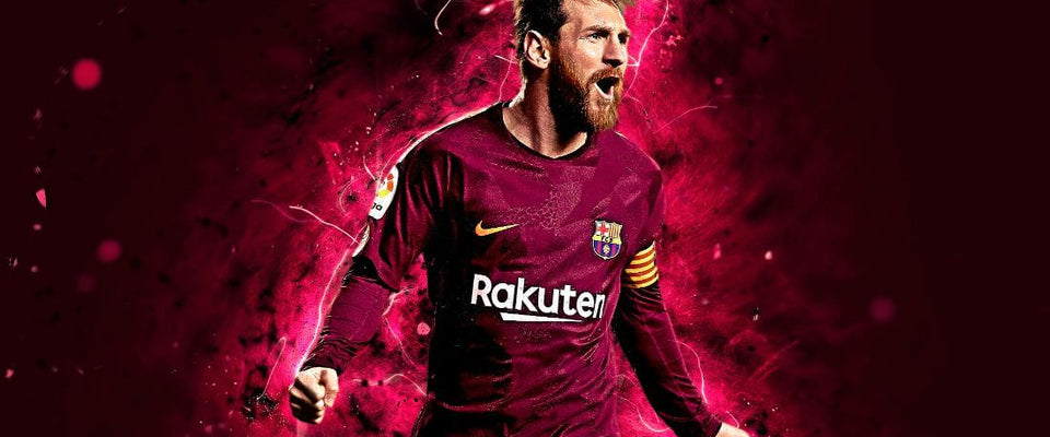 LIONEL MESSI CANVAS WALL ART PRINTS POSTER PICTURES FRAMED FOOTBALL PHOTOS