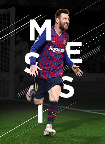 Lionel Messi - Spirit Of Sports - Legend Of Football Poster by Rajesh