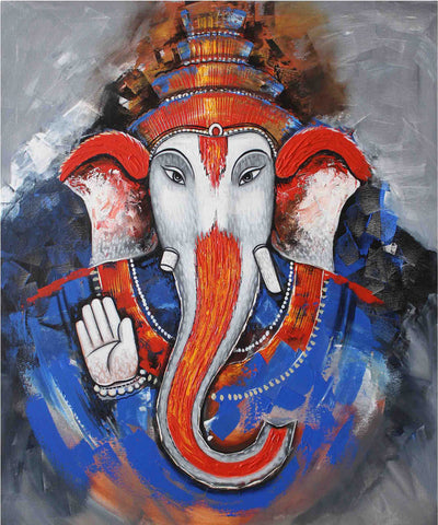 Lord Ganesha - Beautiful Indian Painting by Raghuraman