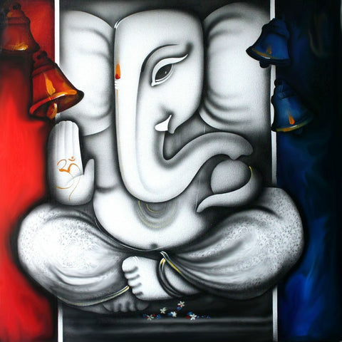 Lord Ganesha - Contemporary Painting by Raghuraman